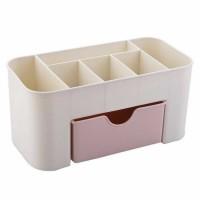 Kotak Organizer Kosmetik Perhiasan Rak Make Up - Pink