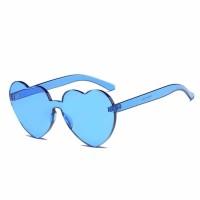 Kacamata Gaya Sunglasses Model Hati - Biru