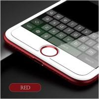 Universal Home Button Sticker for iPhone iPad - Merah Putih