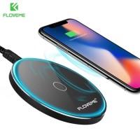 Floveme Qi Wireless Charger 5/10W - KD01 - Hitam