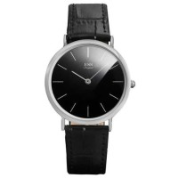 ESS Jam Tangan Analog Pria Luxury Men Leather Strap - WM513 - Hitam