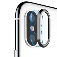 TOTU Camera Lens Tempered Glass Protector for iPhone X - Gray