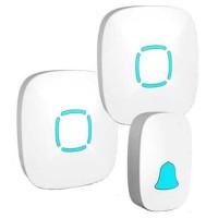 Bel Pintu Wireless Doorbels Waterproof 36 Nada - A507/2 - Putih - 2