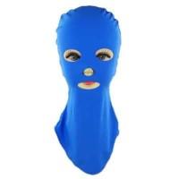 Facekini Topi Topeng Renang Full Face Sun Block - Biru Laut