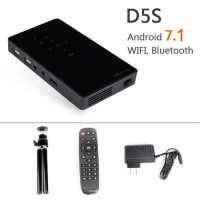 D5S Proyektor Android 7.1 WiFi Bluetooth HDMI Out - Hitam