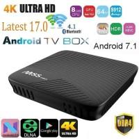 M8S Pro Smart TV Box 4K Android 7.1 Amlogic S912 2GB 16GB - Hitam