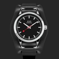 ESS Jam Tangan Analog Pria Luxury Men Leather Strap - WM599 - Hitam
