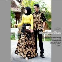Sarimbit Gamis Modern Setelan Couple Brokat Batik Pesta ZMD19