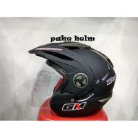 HELM GM NEW IMPREZZA HITAM DOFF HALF FACE