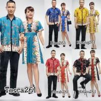 Baju Couple 261 Sarimbit pria wanita dress madura keluarga list brokat
