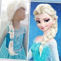 Wig/Rambut Palsu Frozen Elsa (Termurah)