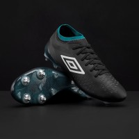 Sepatu Bola Umbro Velocita IV Pro SG - Black/White/Caribbean Sea
