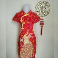 Dress Imlek Perempuan Dewasa Cheongsam Merak Foek (Phu)