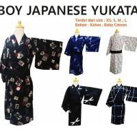 size XS S M L Boy Yukata Japan Summer Kimono Akachan Anak Cowo Obi