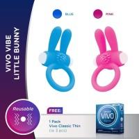 Kondom Getar - Vibe Little Bunny 1 Pcs ORIGINAL vivo