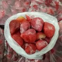 Buah Beku IQF Strawberry Frozen Stroberi 1kg TERMURAH DIJAMIN MURAH !