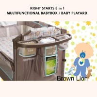 NEW : Box RIGHT STARTS 8 in 1 MULTIFUNCTIONAL BABYBOX / BABY PLAYARD