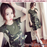 Overall Girl Army/Dress Army/Overall Army/Set Army