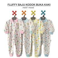 FLUFFY Baju Kodok Buka Kaki Motif 2 sd 12 Bulan (S,M,L)