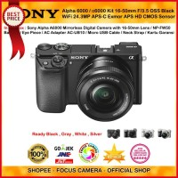 Harga sony alpha 6000 black with 1650mm lens mirrorless camera a6000 | Pembandingharga.com