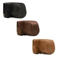 Leather Case Canon M100 kit 15-45mm bag tas sarung kulit M 10 halfcase