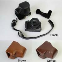 Leather Case Canon M6 Bag Canon M 6 Tas Kulit Half case Casing Sarung