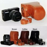 Leather Case Canon M10 kit 15-45mm bag tas sarung kulit M 10 halfcase
