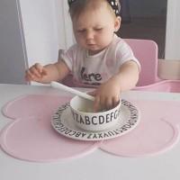 Alas Makan Bahan Silikon Tahan Panas Bentuk Awan untuk Meja Bayi