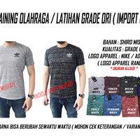 BAJU / KAOS TRAINING MISTY NIKE / ADIDAS / UNDER ARM OUR GRADE ORI