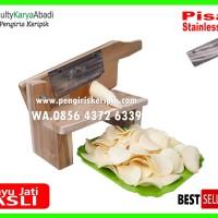 Mesin Pengiris singkong / rajang keripik kentang manual