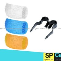 Pop Up 3 Color Flash Diffuser - Multi-Color