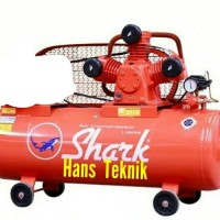 Kompresor Bensin SHARK 2 PK HP Engine Honda GX160 Pompa Angin original