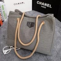 tas shopping shoulder bag besar wanita abu gray bisa selempang murah