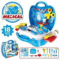 Mainan Bayi Anak Doctor Medical Kit - Blue