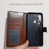 Flip wallet leather Samsung A9 2018
