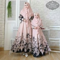 Gamis Syari Couple Mom and Girl Kanaya Choco