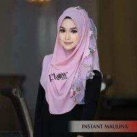 hijab jilbab bergo kerudung scarf khimar instan maulina