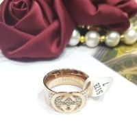 cincin gucci gold size 7
