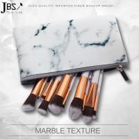 JBS NY Kuas Makeup 10 Set Contour Brush Marble Keramik + Dompet K117