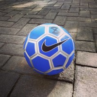 Bola futsal Nike Rolinho menor biru silver