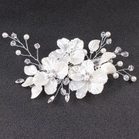 jepit rambut bunga putih aksesoris pesta thumbnail