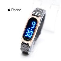 Jam Tangan Wanita / Iphone HC-11205 + Box + Baterai Cadangan - HITAM ROSE