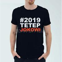 Baju Pria Trend TETEP JOKOWI 2019 kaos t shirt katun combed