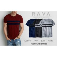 Harga rava baju kaos pria oblong pocket tees with stripe by rava | antitipu.com