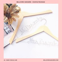 A2 Single Line Basic - Wedding Personalized Wire Hanger Souvenir