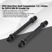 M1 B4 2Pcs Drive Steel Shaft Transmission 112 152mm untuk SCX10 D90 R
