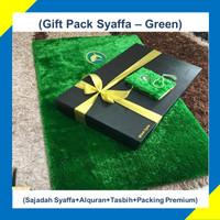 Paket Hadiah/Kado Sajadah Premium Syaffa Bulu Rasfur Busa - Green