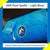 Paket Hadiah/Kado Sajadah Premium Syaffa Bulu Rasfur Busa - Light Blue