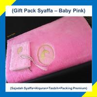Paket Hadiah/Kado Sajadah Premium Syaffa Bulu Rasfur Busa - Baby Pink