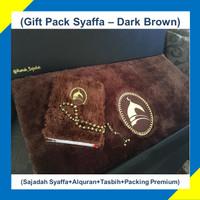 Paket Hadiah/Kado Sajadah Premium Syaffa Bulu Rasfur Busa-Dark Brown